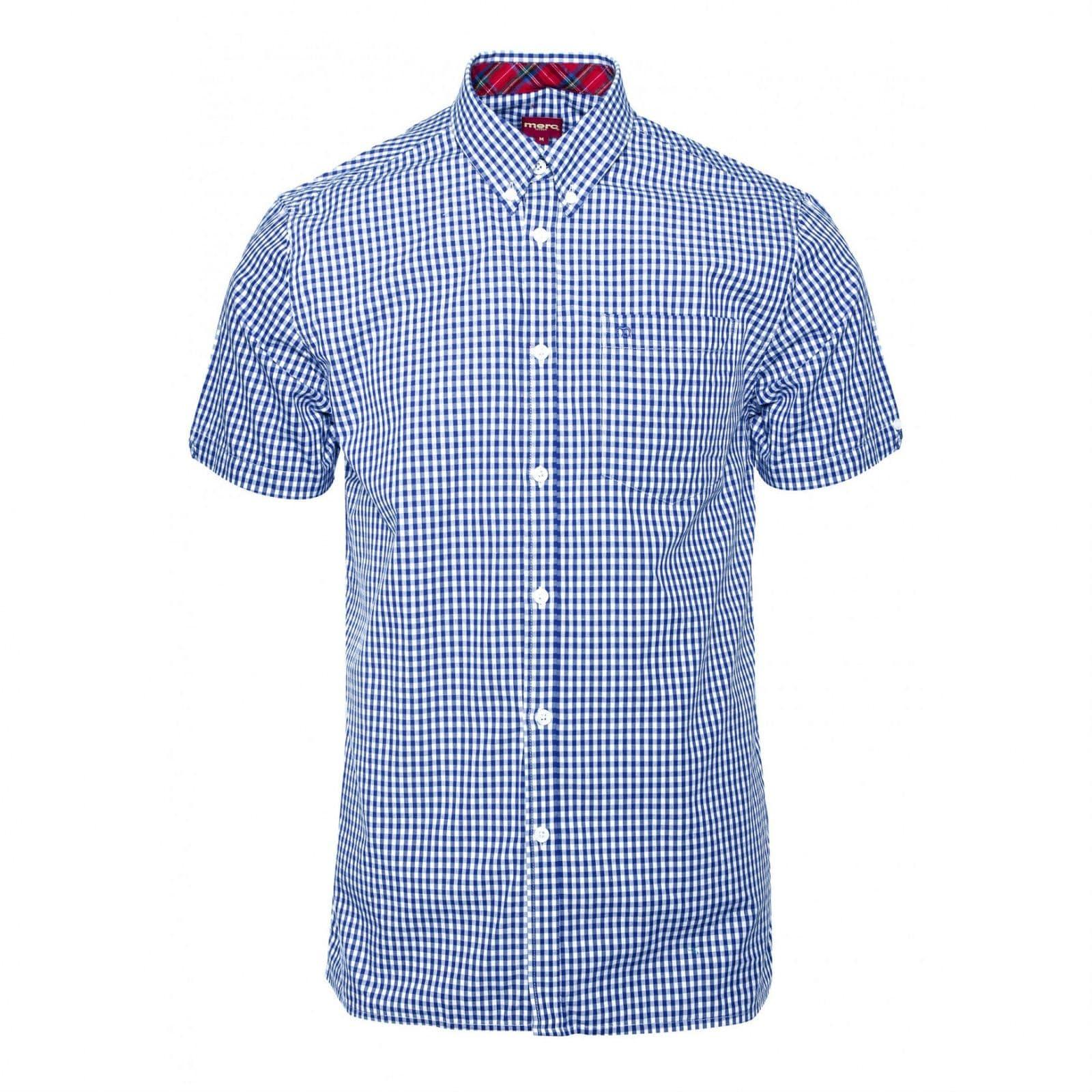 Рубашка TerryКлассические<br><br><br>Артикул: 1507108<br>Материал: 100% хлопок<br>Цвет: бело-голубая клетка<br>Пол: Мужской