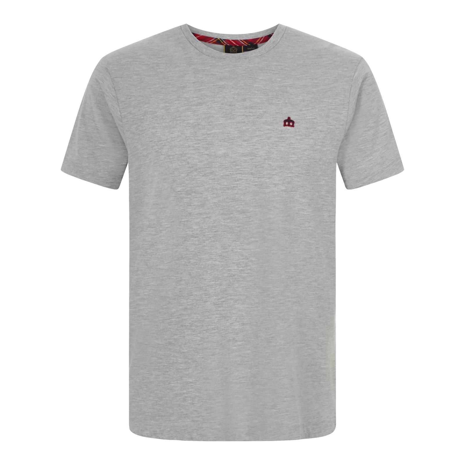 Футболка KeyportCORE<br>Однотонная мужская футболка с вышитым на груди контрастным логотипом Корона – редкий экземпляр футболок без активных надписей и аппликаций – должна прийтись по душе любителям максимально лаконичного дизайна даже в традиционно наименее формальных предметах мужского гардероба. Также отлично подойдет в качестве поддёвки под свитер, олимпийку или кардиган.<br><br>Артикул: 1715112<br>Материал: 100% хлопок<br>Цвет: светлый серый<br>Пол: Мужской