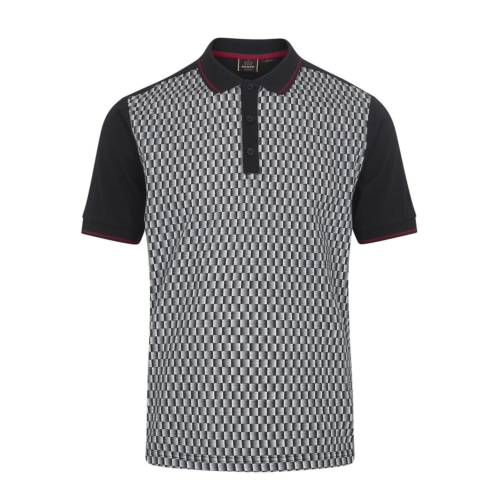 Рубашка Поло PollackПоло под заказ<br><br><br>Артикул: 1917203<br>Материал: 100% хлопок<br>Цвет: черный и дымчато-белый<br>Пол: Мужской