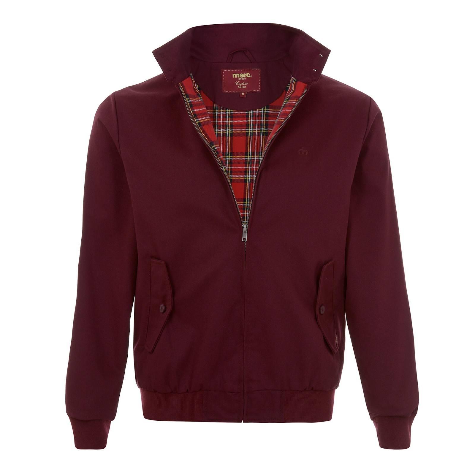 Куртка HarringtonСлайдер на главной<br><br><br>Артикул: 1104106<br>Материал: 60% хлопок, 40% полиэстер / Подкладка 100% хлопок<br>Цвет: бордовый<br>Пол: Мужской