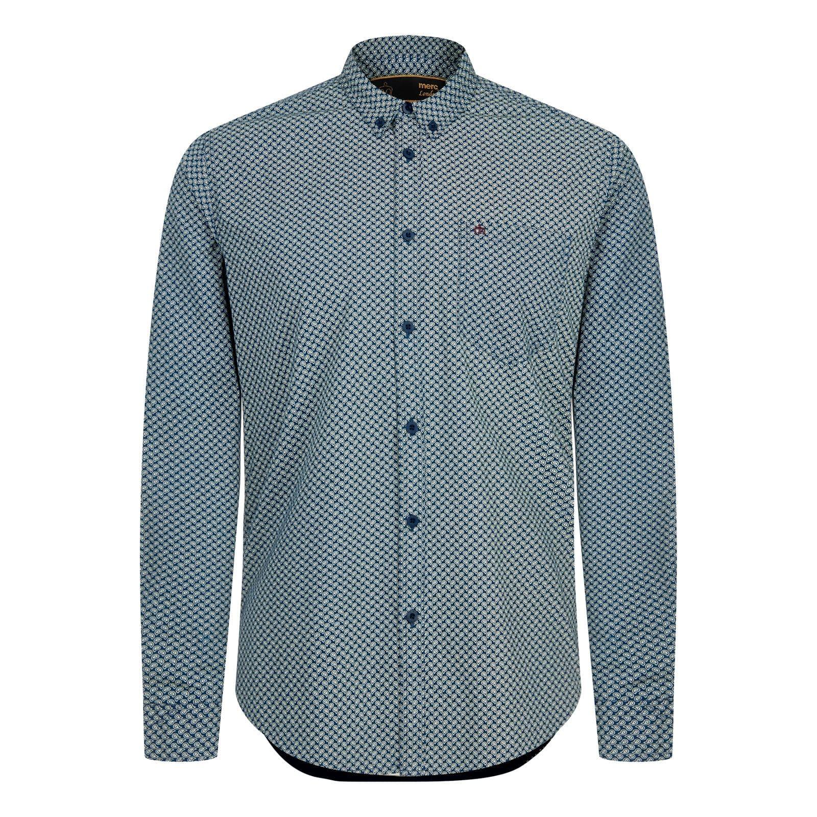Рубашка HelmsleyРубашки под заказ<br><br><br>Артикул: 1516204<br>Материал: 100% хлопок<br>Цвет: синий<br>Пол: Мужской