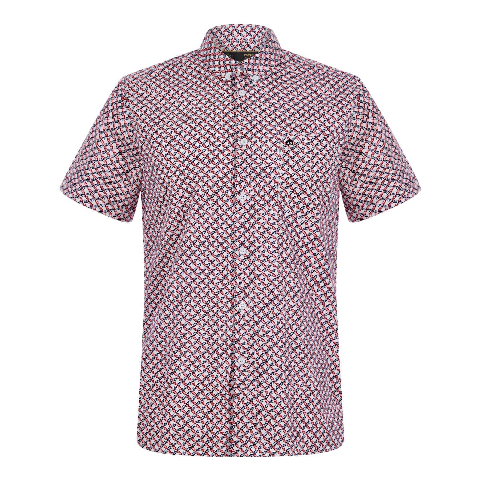 Рубашка AveryРубашки под заказ<br><br><br>Артикул: 1517105<br>Материал: 100% хлопок<br>Цвет: белый с красными и синими узорами<br>Пол: Мужской