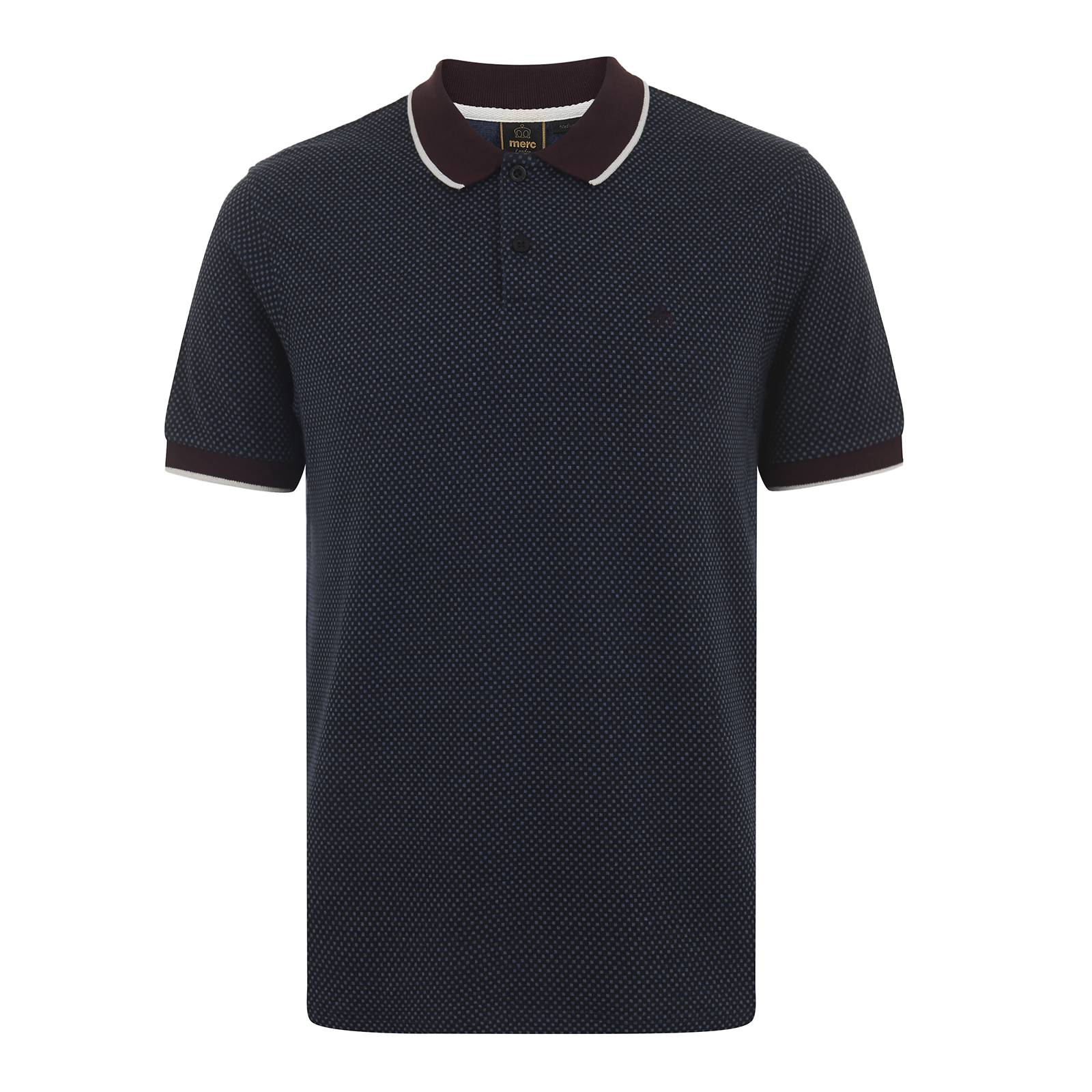 Рубашка Поло HuxleyПоло<br>Классическая мужская рубашка поло в эстетике mod-look, изготовленная из мягкой и легкой ткани смешанного состава, – эластичной и долговечной. Сплошной пиксельный узор, напоминающий polka-dot, контрастного цвета воротник и облегающие манжеты, оформленные по краю выделяющимся белым кантом, укороченная застежка на двух пуговицах – характерные атрибуты ретро стиля, умело вписанные в современный fashion контекст. Брендирована фирменным логотипом Корона, вышитым слева на груди. Это поло хорошо сочетается с Харрингтоном, кардиганом на пуговицах, брюками Sta-Prest, лоферами или Desert Boot.<br><br>Артикул: 1915204<br>Материал: 65% вискоза, 30% полиэстер, 5% эластан<br>Цвет: синий<br>Пол: Мужской