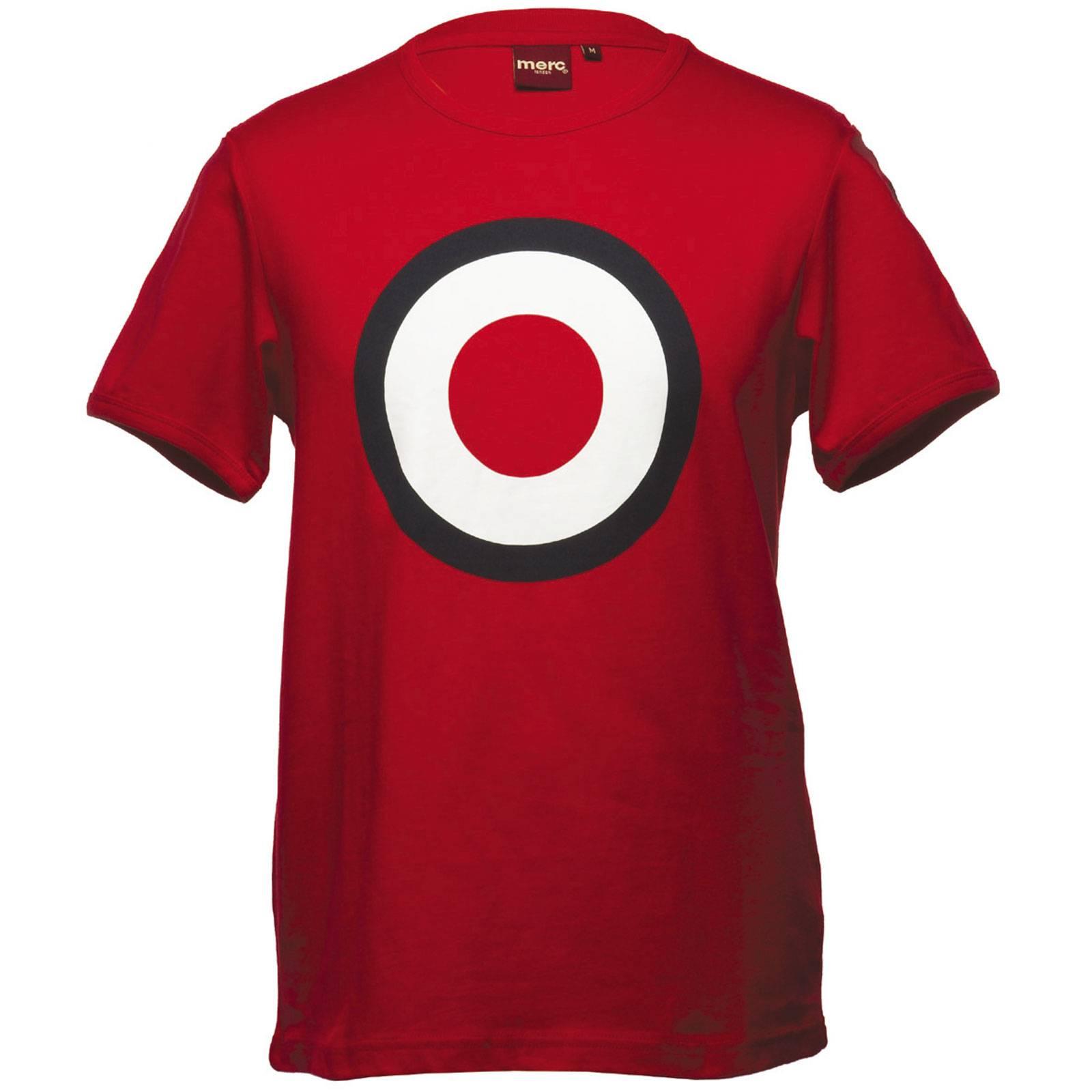 Футболка TicketCORE<br>Классическая t-shirt Merc базовой всесезонной линии &amp;amp;quot;Core&amp;amp;quot; с принтом в виде таргета - легендарным символом mod-движения и mod-look. Высокое качество нанесения орнамента исключает его облезание в результате стирок. Ярко сочетается с олимпийками, кардиганами и верхней одеждой. Произведено в Европейском Союзе.<br><br>Артикул: 1705128<br>Материал: 100% хлопок<br>Цвет: красный<br>Пол: Мужской