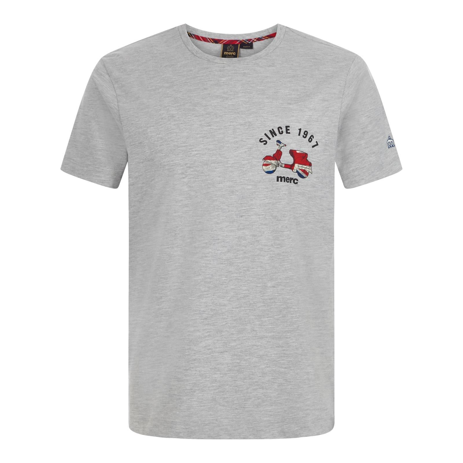 Футболка LudlowСлайдер на главной<br>Комфортного покроя мужская футболка из мягкого натурального материала высокого качества. Минималистский принт в честь полувекового юбилея бренда символизирует историческую связь марки с британской субкультурой модернистов, сделавших скутер неотъемлемой частью своего стиля и образа жизни, и подходит для тех, кто предпочитает лаконичный стиль даже в традиционно более неформальных предметах повседневного гардероба. Брендирована фирменным лого на левом рукаве.<br><br>Артикул: 1717108<br>Материал: 100% хлопок<br>Цвет: серый меланж<br>Пол: Мужской