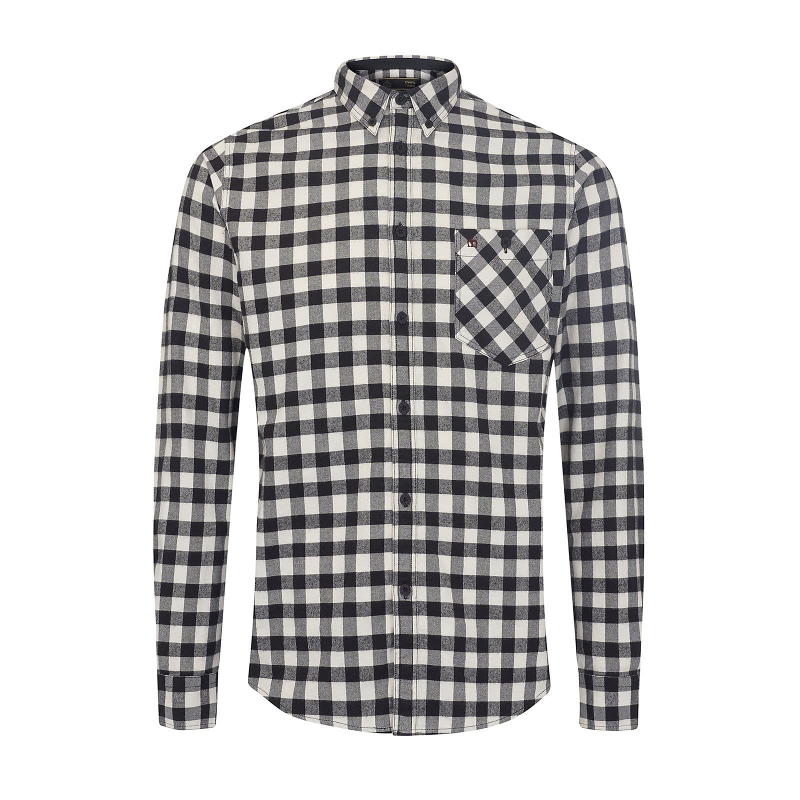 Рубашка FoxhillRude Boy by Merc<br><br><br>Артикул: 1516212<br>Материал: 100% хлопок<br>Цвет: черно-белая клетка<br>Пол: Мужской