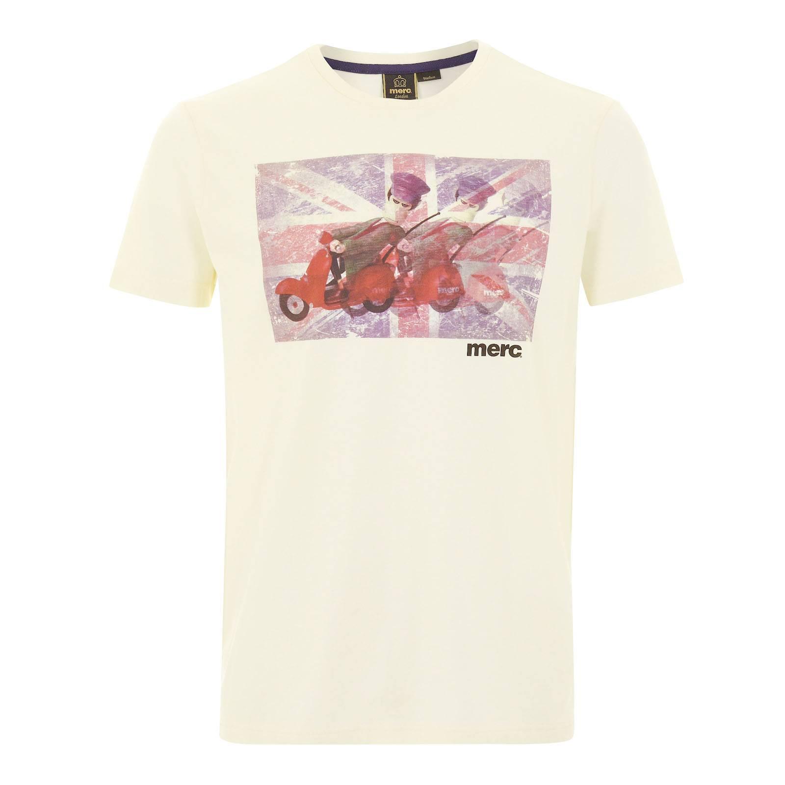 Футболка LongportФутболки<br>Хлопковая мужская футболка с британским флагом Union Jack, изображающая игрушечного мода Jimmy - персонажа исторической серии фигурок Merc, посвященной представителям исконно близких для бренда молодежных движений и субкультур родом из Соединенного Королевства.<br><br>Артикул: 1715110<br>Материал: 100% хлопок<br>Цвет: винтажный белый<br>Пол: Мужской