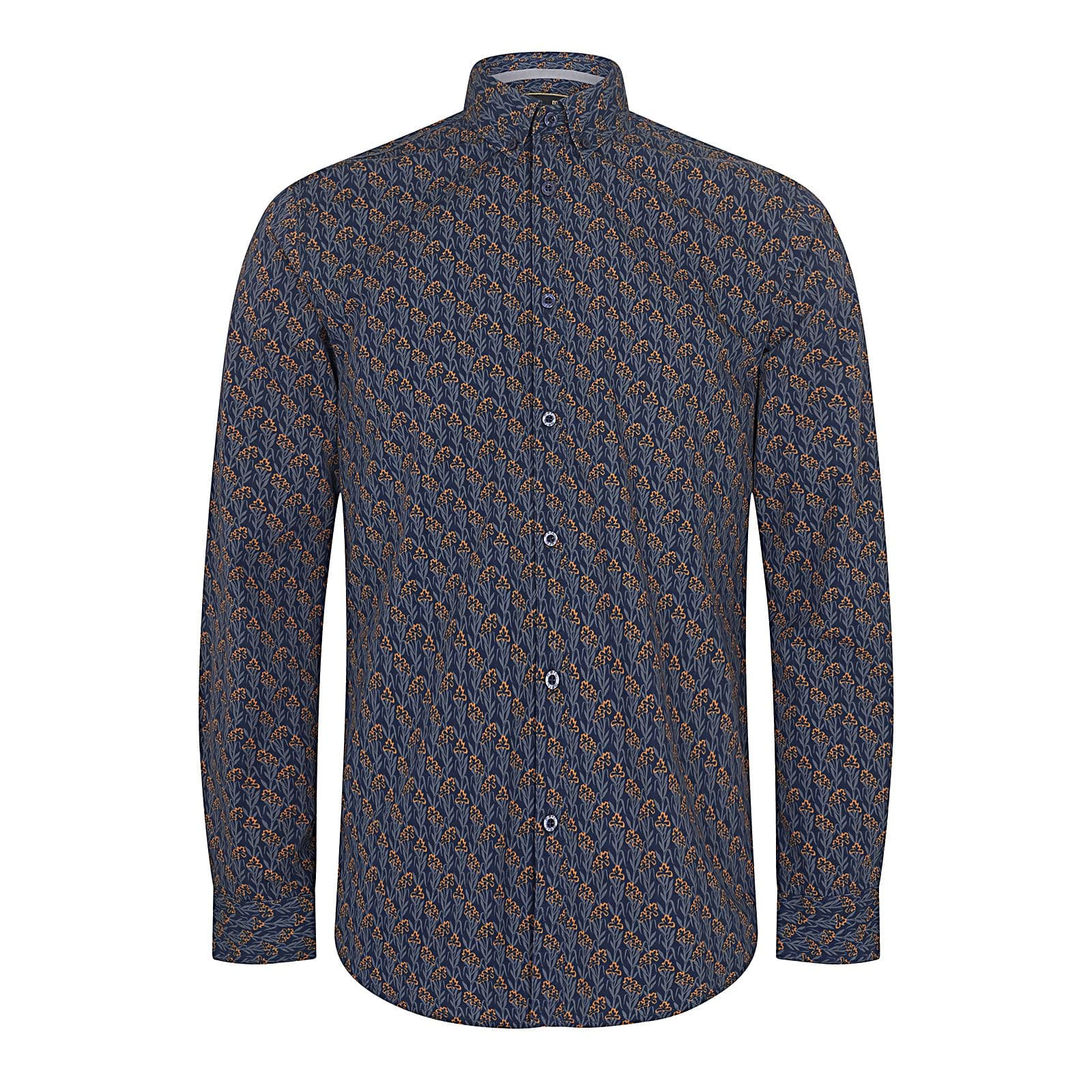 Рубашка ThorneРубашки под заказ<br><br><br>Артикул: 1517206<br>Материал: 100% хлопок<br>Цвет: синий с оранжевым<br>Пол: Мужской