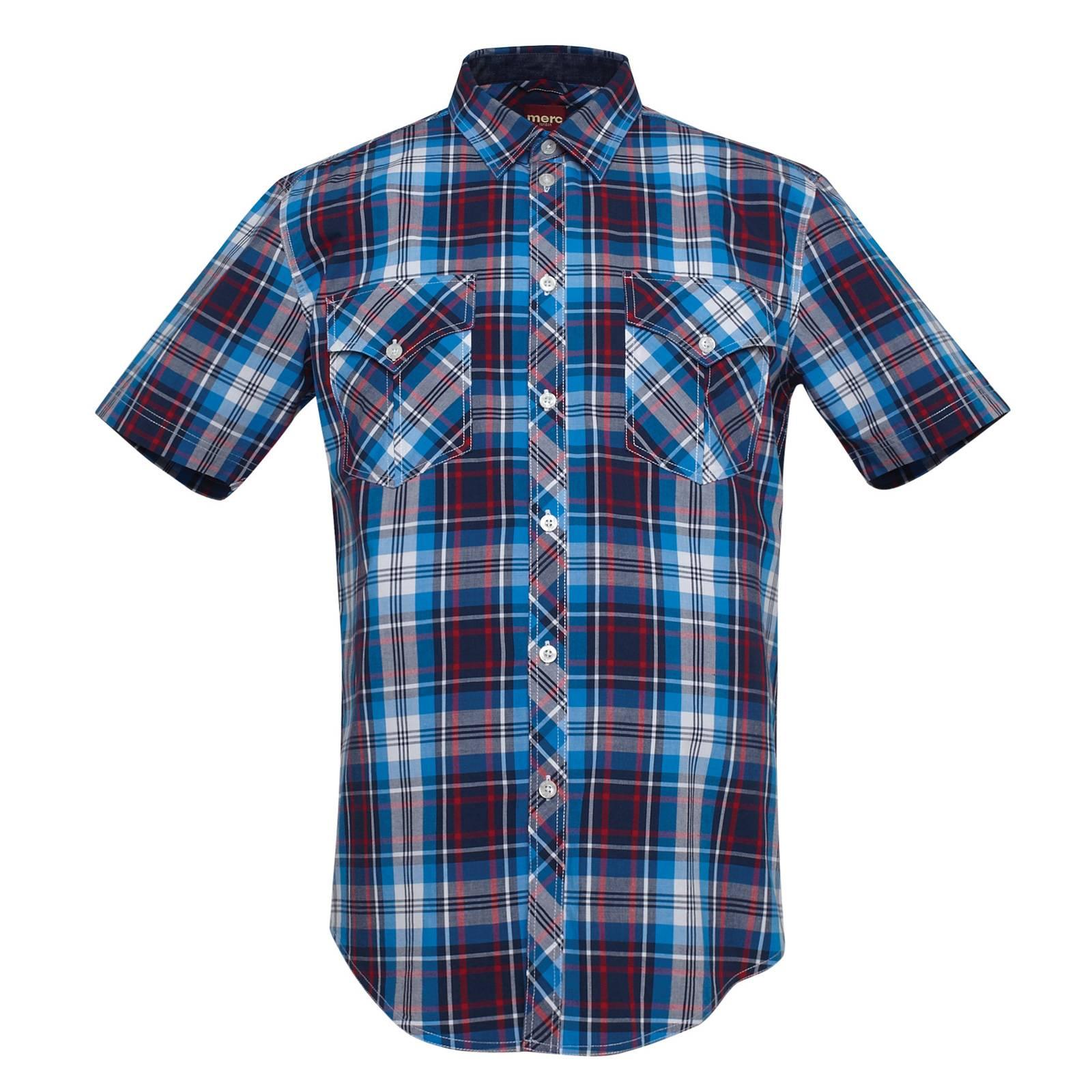 Рубашка Graham - Merc LondonРубашки<br><br><br>Артикул: 1512112<br>Материал: 100% хлопок<br>Цвет: синий<br>Пол: Мужской