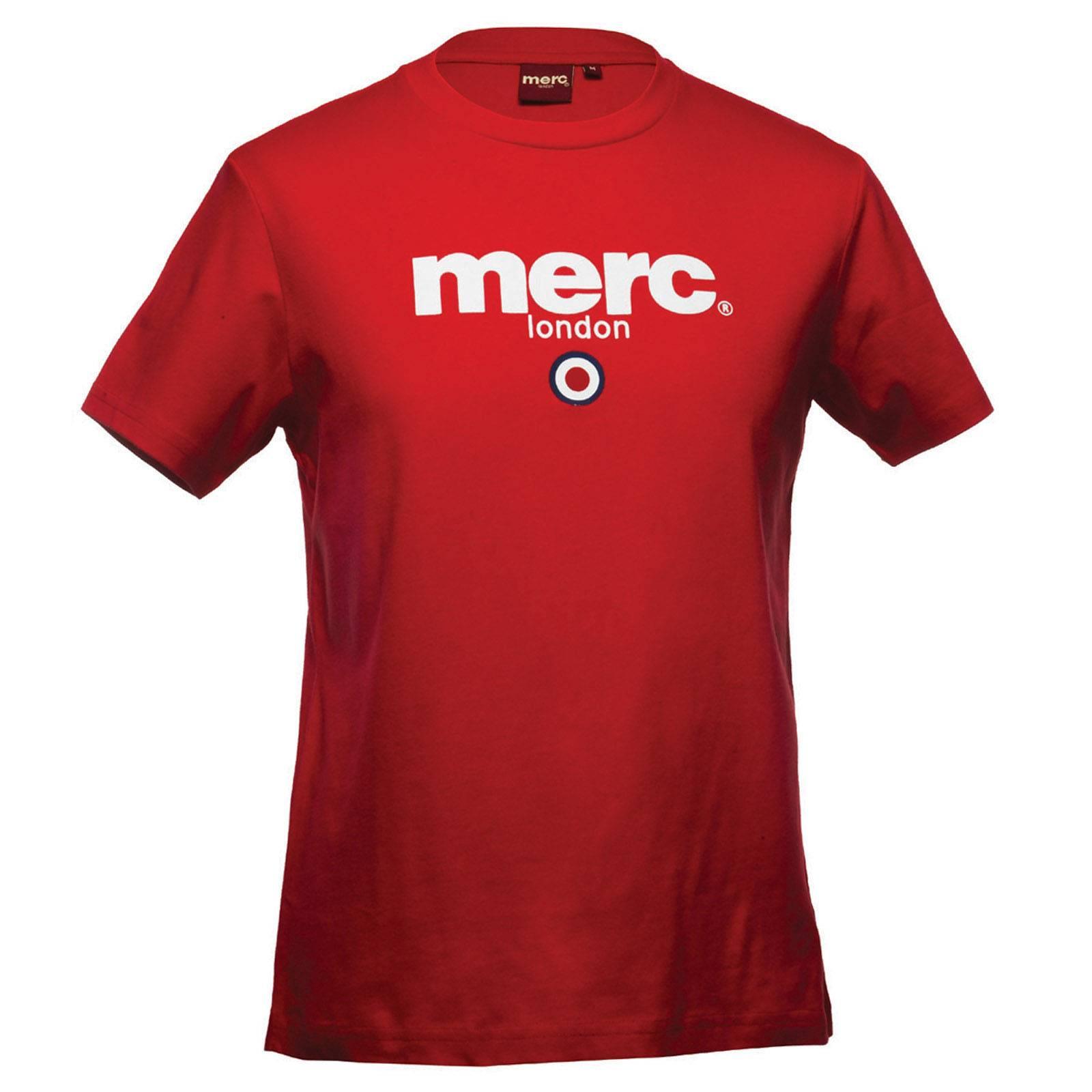 Футболка BrightonCORE<br>Футболка базовой всесезонной линии &amp;amp;quot;Core&amp;amp;quot;, брендированная классическим логотипом Merc и символом mod-движения - таргетом. Выпускается с момента основания бренда. Более строгий вариант  t-shirt Beach. Принт-логотип нанесен методом высококачественной шелкографии, не сходит и не блекнет в результате стирок. Расположение логотипа в верхней части футболки позволяет красиво комбинировать ее с не до конца застегнутыми олимпийкой-худи, кардиганом или ветровкой. Произведена в Европейском Союзе.<br><br>Артикул: 1704136<br>Материал: 100% Хлопок<br>Цвет: красный<br>Пол: Мужской