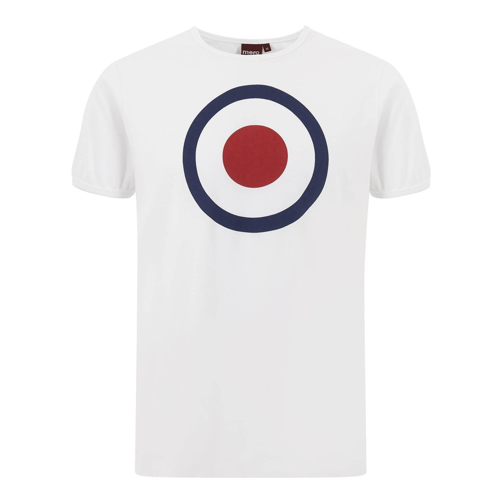 Футболка TicketCORE<br>Классическая t-shirt Merc базовой всесезонной линии &amp;amp;quot;Core&amp;amp;quot; с принтом в виде таргета - легендарным символом mod-движения и mod-look. Высокое качество нанесения орнамента исключает его облезание в результате стирок. Ярко сочетается с олимпийками, кардиганами и верхней одеждой. Произведено в Европейском Союзе.<br><br>Артикул: 1705128<br>Материал: 100% хлопок<br>Цвет: белый<br>Пол: Мужской