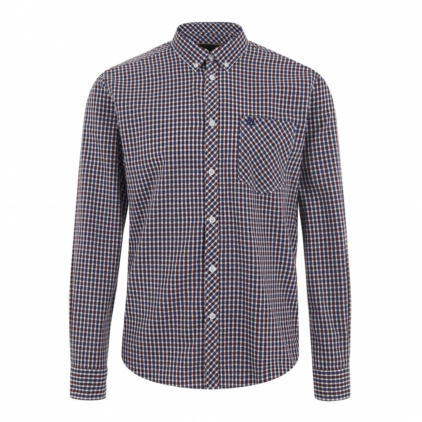 Рубашка PitmanРубашки<br><br><br>Артикул: 1515209<br>Материал: 100% хлопок<br>Цвет: красно-сине-белая клетка<br>Пол: Мужской