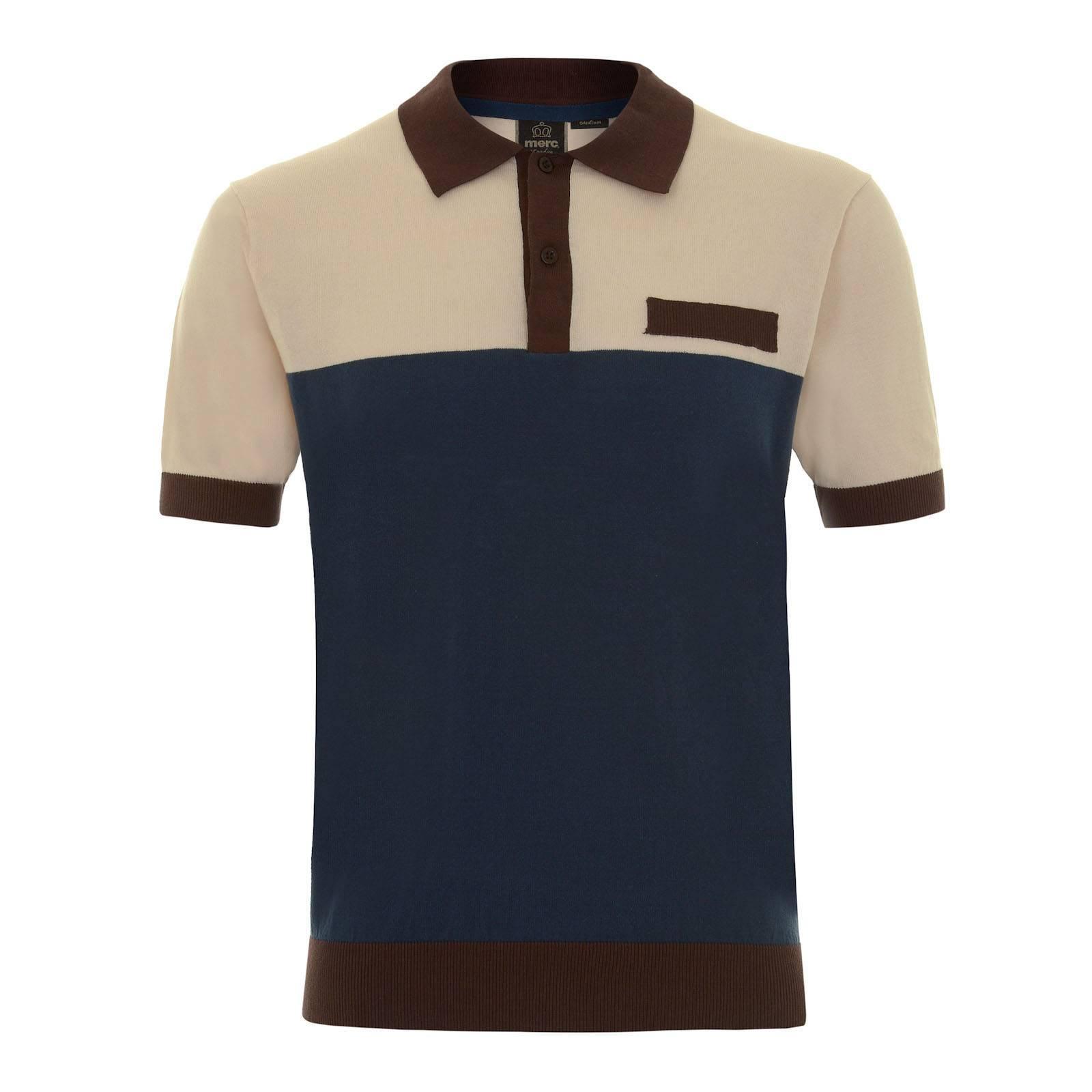 Рубашка Поло MalibuПоло<br>Аутентичное трикотажное мужское поло в ретро стиле из мягкого и тонкого хлопкового материала – оригинальное решение весеннего гардероба в паре с Харрингтоном и отличный вариант на прохладные летние ночи и вечера. Классическое для casual моды 60-70-х цветовое разделение нижней и верхней частей, дополненное контрастным, широко разведенным в стороны воротником, аналогичного цвета отделкой нагрудного кармана, облегающими манжетами и резинкой на талии, образуют правильную геометрию изделия и его лаконичный smart дизайн в концепции modern retro.<br><br>Артикул: 1615101<br>Материал: 100% хлопок<br>Цвет: темно-коричневый<br>Пол: Мужской