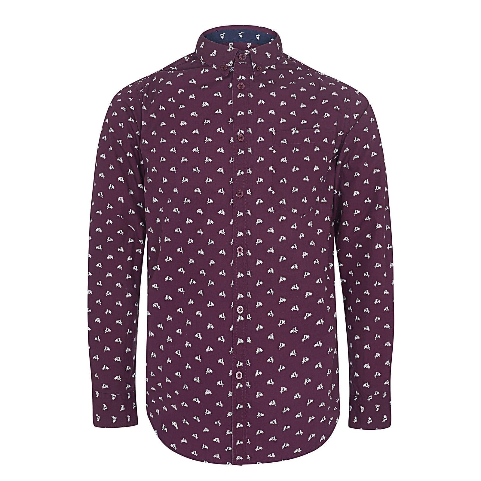 Рубашка UplandРубашки под заказ<br><br><br>Артикул: 1517208<br>Материал: 100% хлопок<br>Цвет: винно-красный<br>Пол: Мужской
