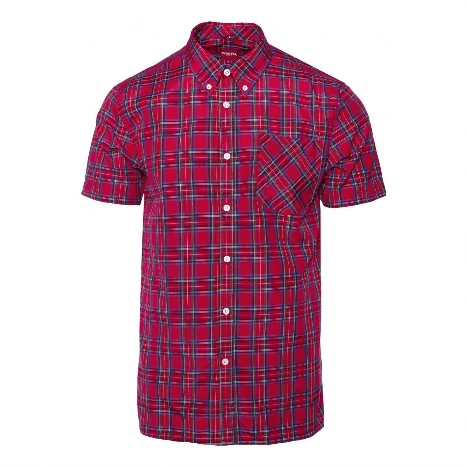 Рубашка MackButton Down<br>Приталенная мужская рубашка из тонкого, дышащего материала, в традиционную для британского стиля &amp;amp;quot;тартановую&amp;amp;quot; клетку. Можно носить навыпуск или заправлять в брюки, комбинируя с трикотажем, ветровкой или плащом. Классический воротник типа &amp;amp;quot;button down&amp;amp;quot; пристегнут к основанию рубашки на пуговицы, что делает ее идеальной парой для пуловера с V-образным вырезом или свитера. Принадлежит к базовой линии &amp;amp;quot;Core&amp;amp;quot; и производится из сезона в сезон, являясь частью наследия Merc look на протяжении многих лет.<br><br>Артикул: 1510112<br>Материал: 65% хлопок 35% полиэстер<br>Цвет: красный тартан<br>Пол: Мужской