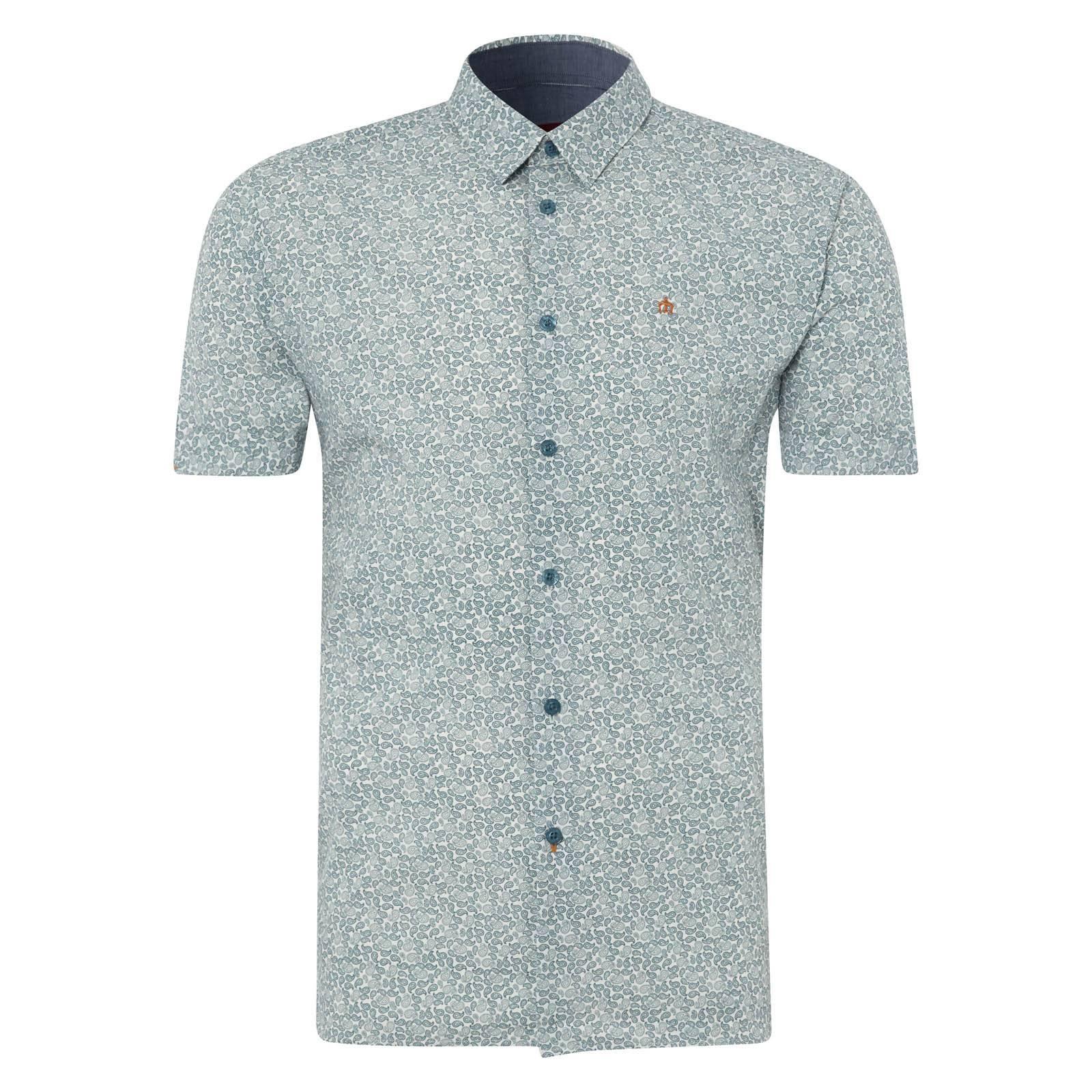 Рубашка ShepardРубашки<br>Приталенная рубашка с зауженными рукавами, которая прекрасно садится по фигуре. Украшена сплошным, выдержанным двутональным узором &amp;amp;quot;пейсли&amp;amp;quot;. &amp;lt;br /&amp;gt;<br>&amp;lt;br /&amp;gt;<br>Аккуратный, укороченный воротник с отложными краями классического английского типа &amp;amp;quot;Кент&amp;amp;quot; и приятный глазу лазурно-серый принт составляют легкий образ этой модели, идеальный для летнего сезона. &amp;lt;br /&amp;gt;<br>&amp;lt;br /&amp;gt;<br>Эта рубашка прекрасно сочетается с джинсами и легким синим кардиганом. Ее можно носить навыпуск или заправлять в брюки.<br><br>Артикул: 1514106<br>Материал: 100% хлопок<br>Цвет: лазурно-серый<br>Пол: Мужской