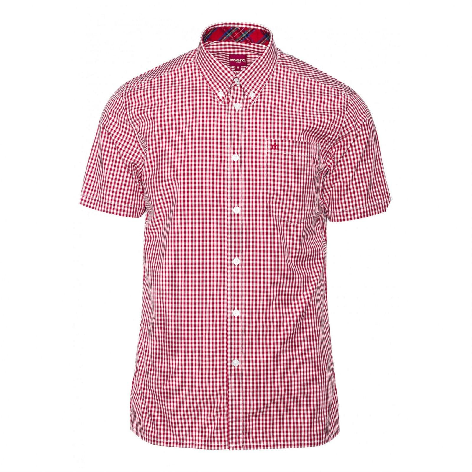 Рубашка TerryКлассические<br>Эта классическая, приталенная рубашка всесезонной базовой линии CORE производится почти в неизменном виде на протяжении десятилетий, символизируя верность Merc своему полувековому наследию и исконному casual стилю. &amp;lt;br /&amp;gt;<br>&amp;lt;br /&amp;gt;<br>Традиционная мелкая двухцветная английская клетка прекрасно сочетается с большинством легких курток, тренчей и парок. Визитная карточка рубашек Merc - воротник &amp;amp;quot;button-down&amp;amp;quot; на пуговицах - делает ее идеальной для комбинации с V-neck свитерами, жилетами и кардиганами.&amp;lt;br /&amp;gt;<br>&amp;lt;br /&amp;gt;<br>Прямой низ позволяет с комфортом заправлять эту рубашку в брюки, джинсы или шорты, хотя ее можно носить и на выпуск: под курткой, блейзером или саму по себе. &amp;lt;br /&amp;gt;<br><br>Артикул: 1507108<br>Материал: 100% хлопок<br>Цвет: красно-белая клетка<br>Пол: Мужской