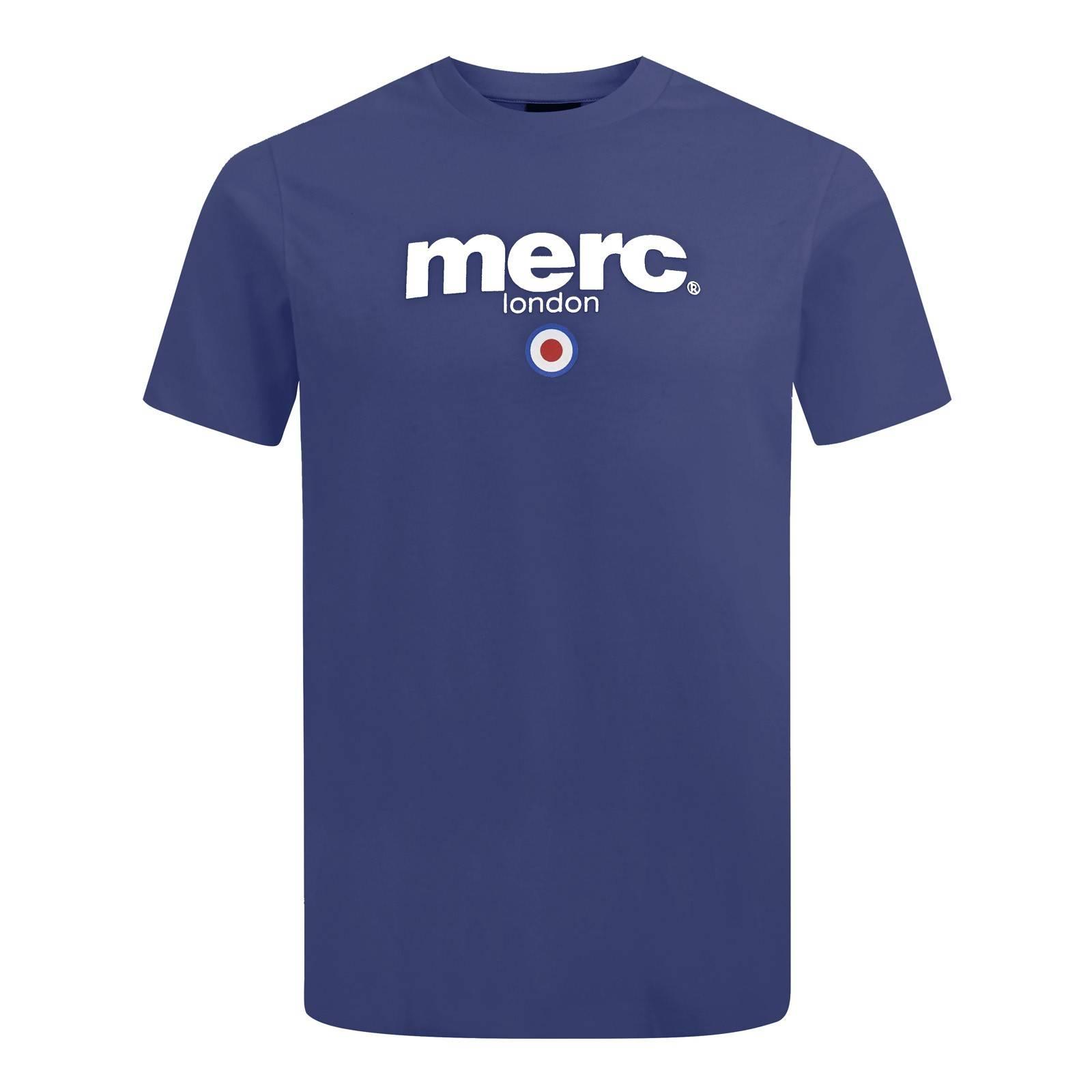 Футболка BrightonCORE<br>Классическая мужская футболка базовой всесезонной линии Core, брендированная логотипом Merc и символом mod-движения - таргетом. Выпускается с момента основания бренда. Принт-логотип нанесен методом высококачественной шелкографии, не сходит и не блекнет в результате стирок. Расположение логотипа в верхней части футболки позволяет красиво комбинировать ее с не до конца застегнутыми олимпийкой-худи, кардиганом или ветровкой.<br><br>Артикул: 1704136<br>Материал: 100% хлопок<br>Цвет: черного моря<br>Пол: Мужской
