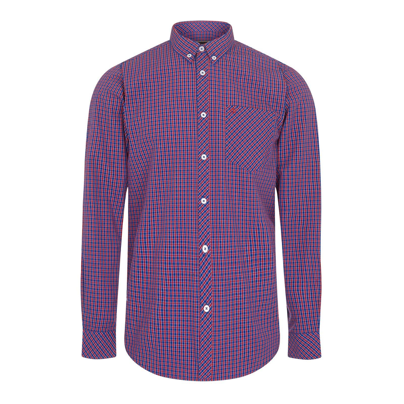 Рубашка ReigateРубашки под заказ<br><br><br>Артикул: 1517211<br>Материал: 100% хлопок<br>Цвет: красно-сине-белая клетка<br>Пол: Мужской