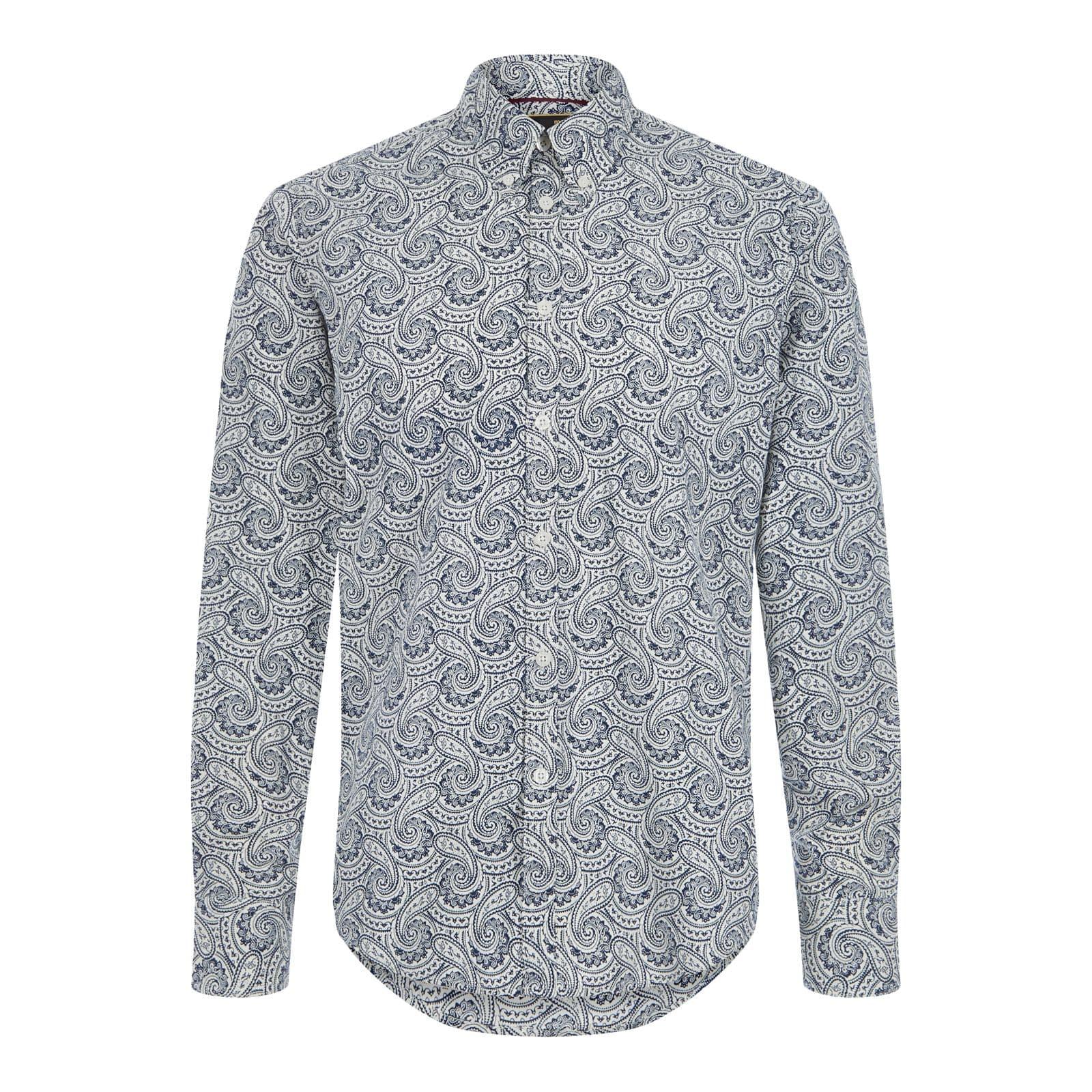 Рубашка PatchamРубашки под заказ<br><br><br>Артикул: 1517109<br>Материал: 100% хлопок<br>Цвет: синий с белым<br>Пол: Мужской