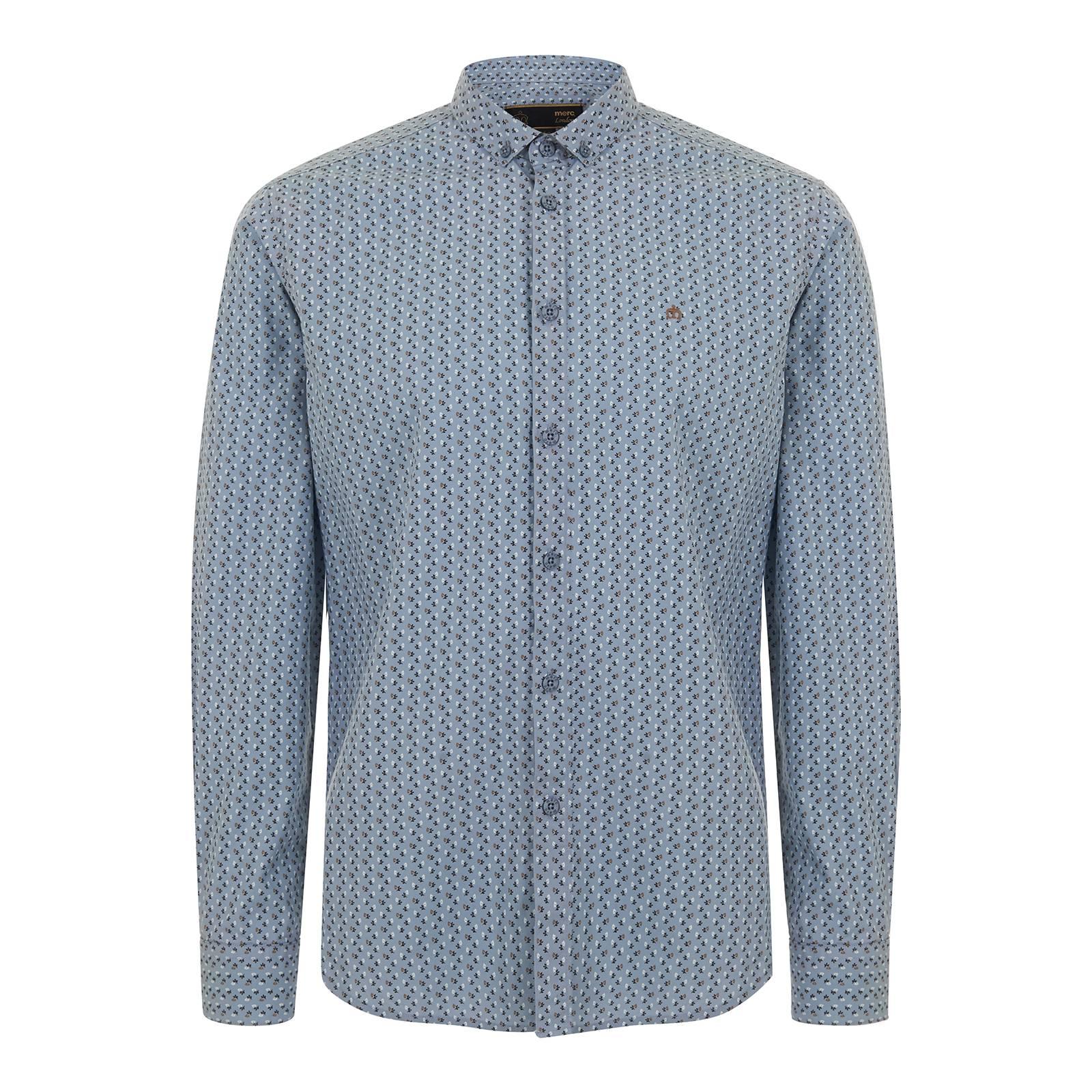 Рубашка SistoРубашки<br><br><br>Артикул: 1515206<br>Материал: 100% хлопок<br>Цвет: синяя сталь<br>Пол: Мужской