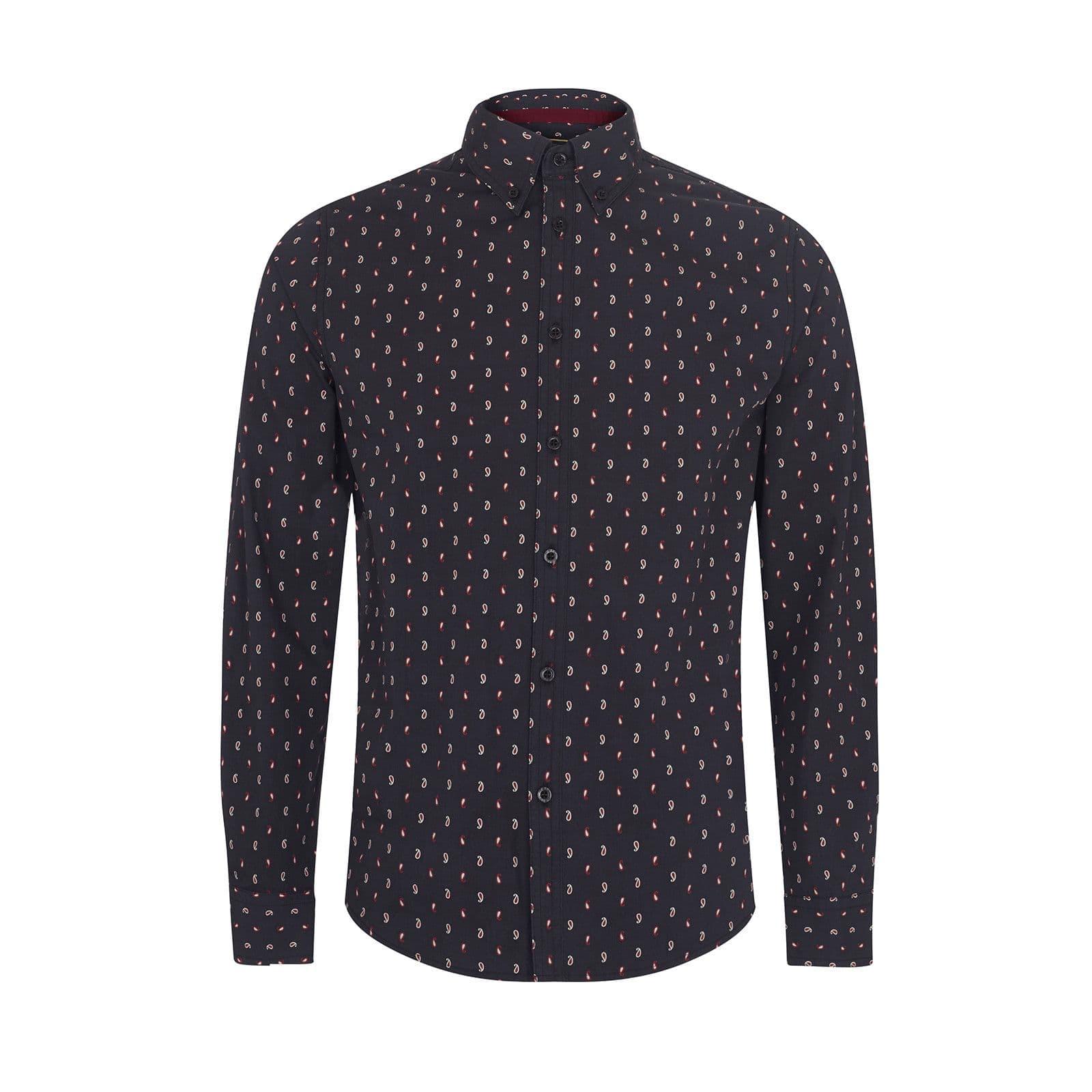 Рубашка HobartРубашки под заказ<br><br><br>Артикул: 1517202<br>Материал: 100% хлопок<br>Цвет: черный<br>Пол: Мужской