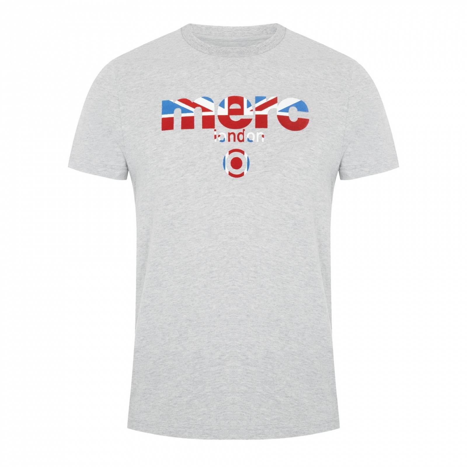 Футболка BroadwellCORE<br>Яркая футболка всесезонной базовой линии &amp;amp;quot;Core&amp;amp;quot; с классическим логотипом Merc, украшенным Union Jack. Высокое качество нанесения принта исключает его облезание в результате стирок. Трехцветный Британский флаг позволяет легко комбинировать эту футболку со множеством вариантов джинсов, шорт, обуви и брюк в различных цветовых решениях. Отлично сочетается с олимпийками, кардиганами и верхней одеждой. Произведено в Европейском Союзе<br><br>Артикул: 1709210<br>Материал: 100% хлопок<br>Цвет: серый<br>Пол: Мужской