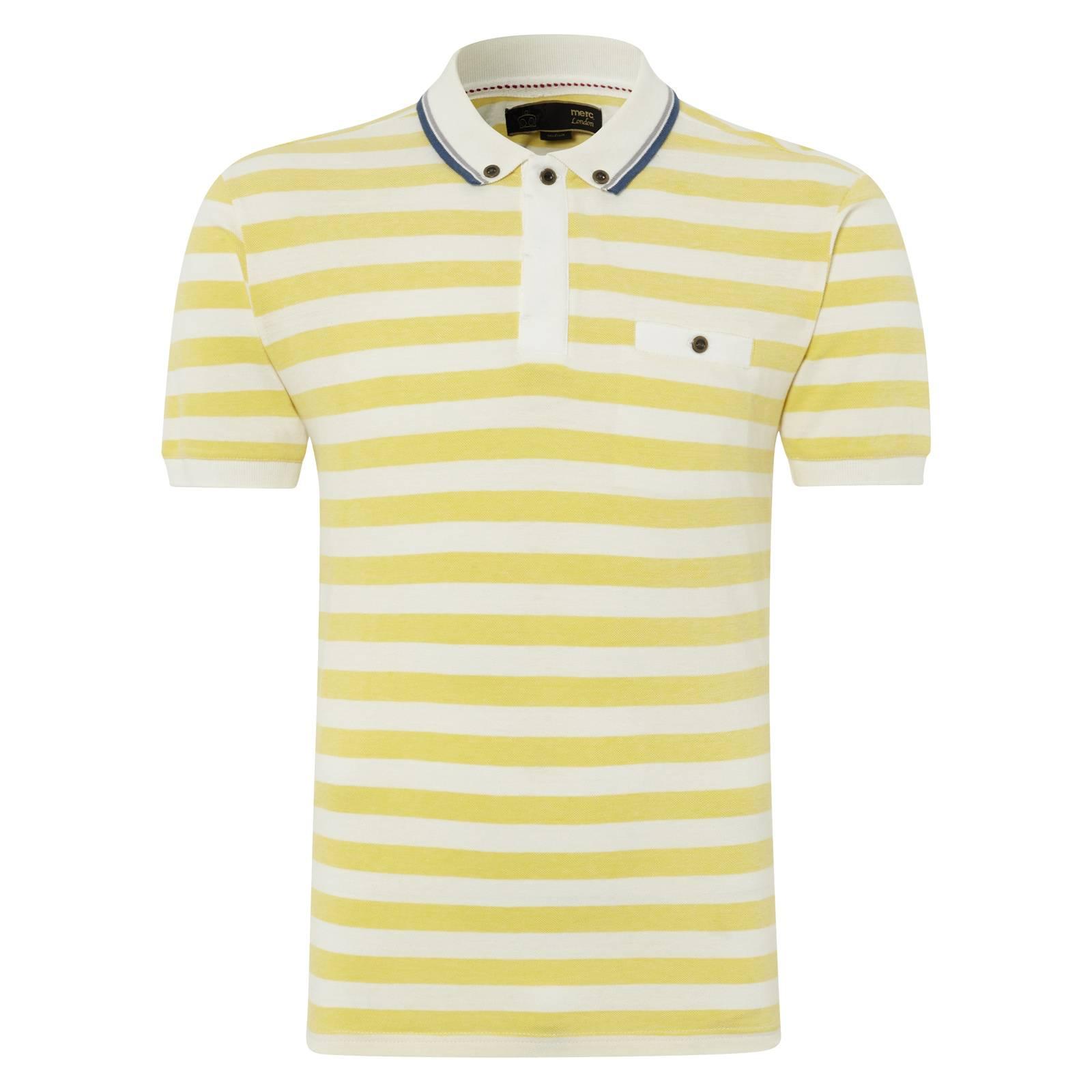 Рубашка Поло GuilioПоло<br><br><br>Артикул: 1914108<br>Материал: 100% хлопок<br>Цвет: белый в желтую полоску<br>Пол: Мужской