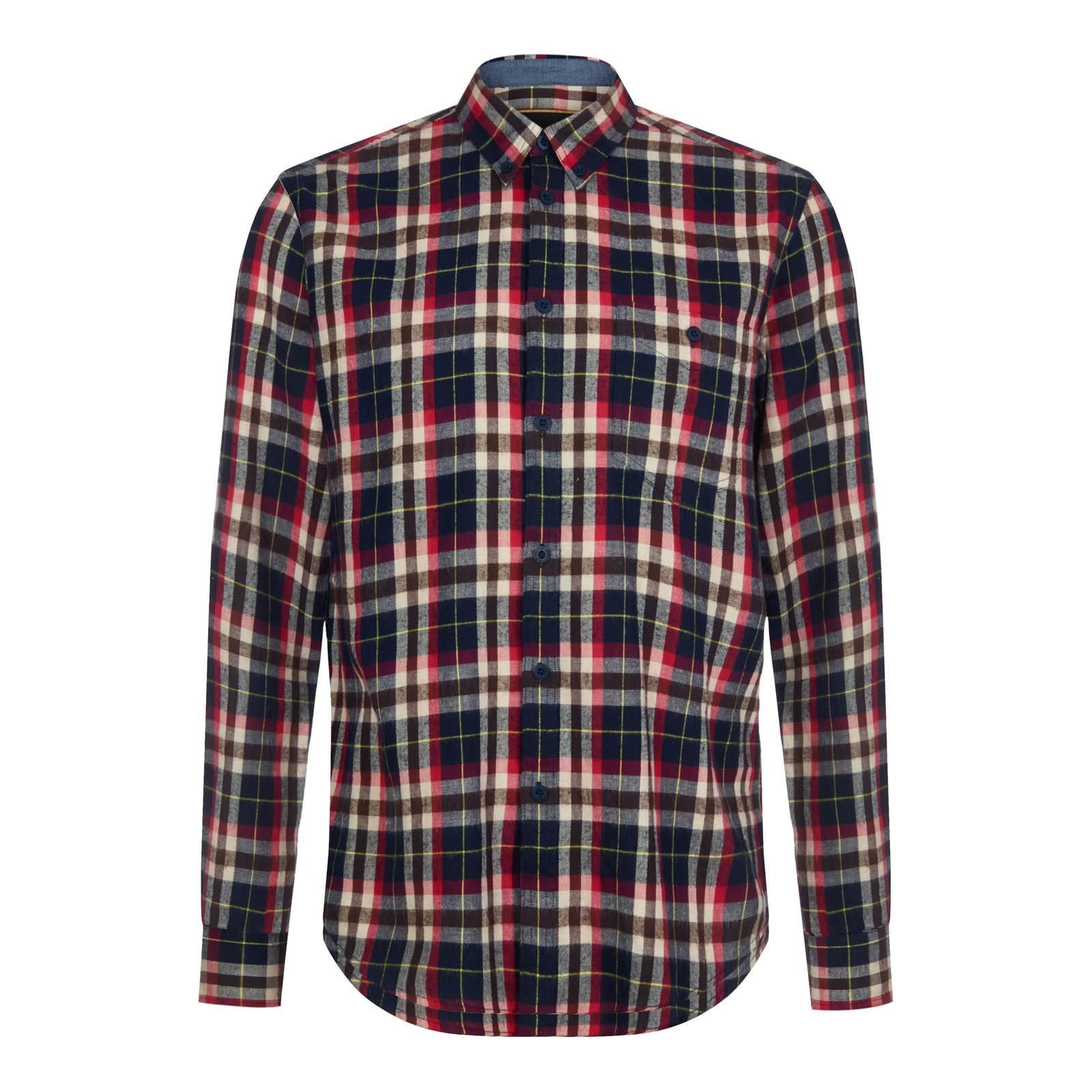 Рубашка TurnerРубашки<br>Приталенного покроя мужская рубашка из высококачественного хлопчатобумажного твила – ворсистой, мягкой на ощупь, прочной и долговечной ткани, выработанной саржевым (диагональным) переплетением нитей.  Традиционный для британской моды button-down воротник на пуговицах и эффектный тартановый узор вызывают ассоциации с благородным, уходящим в глубину веков стилем шотландского высокогорья. Эту рубашку удобно заправлять в джинсы, для чего её конструкция предусматривает удлиненную спинку. Её можно также сочетать с твидовыми брюками и пиджаком, а также замшевой обувью типа брогов или дезертов.<br><br>Артикул: 1516214<br>Материал: 100% хлопок<br>Цвет: мультицветный тартан<br>Пол: Мужской